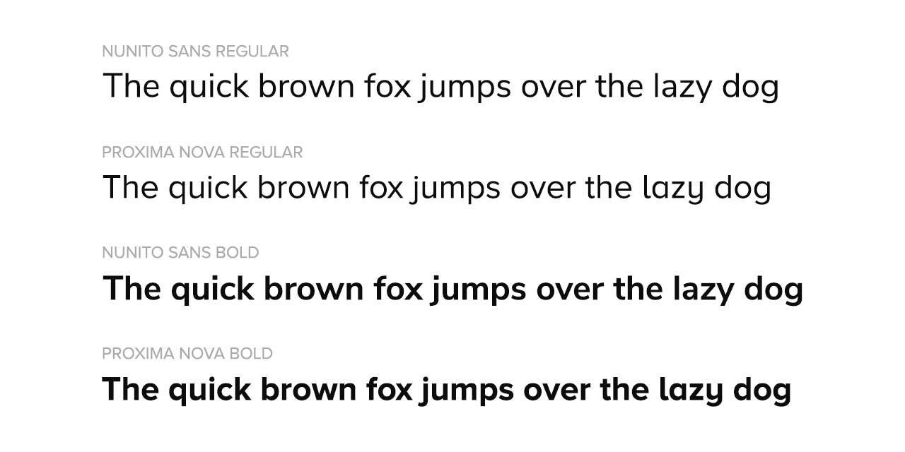 Google Fonts Nunito Sans Comparison